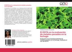 Portada del libro de El EDTA en la evaluación de metales pesados en la lechuga