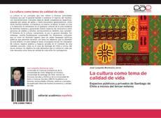 Portada del libro de La cultura como tema de calidad de vida