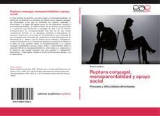 Bookcover of Ruptura conyugal, monoparentalidad y apoyo social