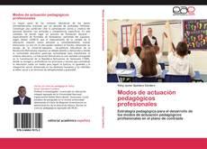 Modos de actuación pedagógicos profesionales kitap kapağı