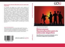 Portada del libro de Dimensiones Socioculturales para la selección deportiva