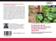 Обложка Evaluación de los programas de extensión en los productores agrícolas