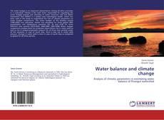 Capa do livro de Water balance and climate change