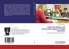 Capa do livro de Learning Styles and Personality Types of Pupil Teachers