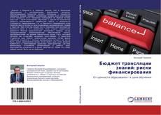 Portada del libro de Бюджет трансляции знаний: риски финансирования