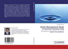 Bookcover of Water Management Study in Summer Sesame Crop