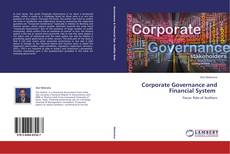 Couverture de Corporate Governance and Financial System
