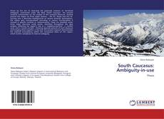 Bookcover of South Caucasus:  Ambiguity-in-use