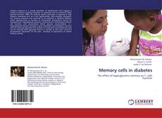 Buchcover von Memory cells in diabetes