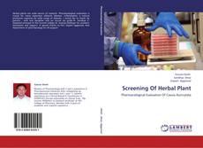 Screening Of Herbal Plant kitap kapağı