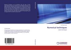 Bookcover of Numerical techniques