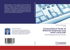 Bookcover of Computational Study of Wielandt Subgroups and Series using GAP