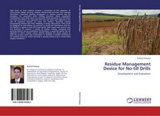 Bookcover of Residue Management Device for No-till Drills
