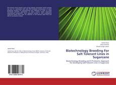 Portada del libro de Biotechnology Breeding For Salt Tolerant Lines in  Sugarcane