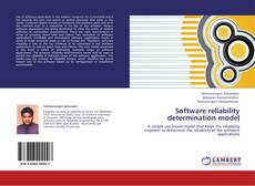 Capa do livro de Software reliability determination model