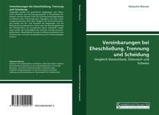 Bookcover of Vereinbarungen bei Eheschließung, Trennung und Scheidung