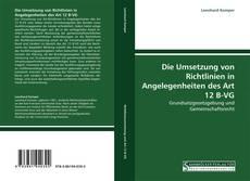 Bookcover of Die Umsetzung von Richtlinien in Angelegenheiten des Art 12 B-VG
