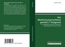 Bookcover of Das Aberkennungsverfahren gemäß § 7 Asylgesetz