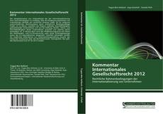 Capa do livro de Kommentar Internationales Gesellschaftsrecht 2012