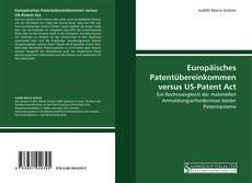 Capa do livro de Europäisches Patentübereinkommen versus US-Patent Act