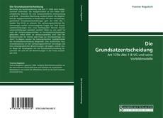 Capa do livro de Die Grundsatzentscheidung