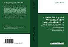 Capa do livro de Pragmatisierung und Unkündbarkeit im österreichischen Recht