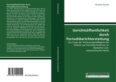Capa do livro de Gerichtsöffentlichkeit durch Fernsehberichterstattung