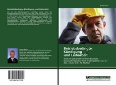 Buchcover von Betriebsbedingte Kündigung  und Leiharbeit
