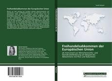 Freihandelsabkommen der Europäischen Union kitap kapağı