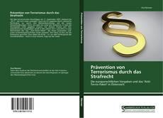 Capa do livro de Prävention von Terrorismus durch das Strafrecht