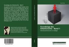 Buchcover von Grundzüge des Arbeitsrechts - Band 1