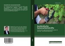 Bookcover of Ausländische Saisonarbeitskräfte