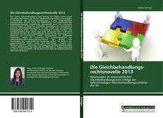 Bookcover of Die Gleichbehandlungs­rechtsnovelle 2013