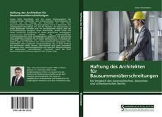 Buchcover von Haftung des Architekten für Bausummenüberschreitungen