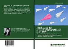 Bookcover of Der Entzug der Staatsbürgerschaft nach § 34 StbG