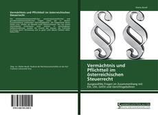 Buchcover von Vermächtnis und Pflichtteil im österreichischen Steuerrecht