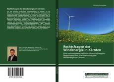Buchcover von Rechtsfragen der Windenergie in Kärnten