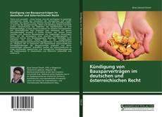 Buchcover von Kündigung von Bausparverträgen im deutschen und österreichischen Recht