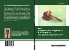 Capa do livro de Das Beweisverwertungsverbot im Zivilprozess