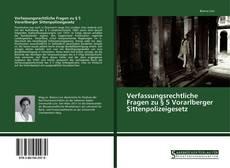 Bookcover of Verfassungsrechtliche Fragen zu § 5 Vorarlberger Sittenpolizeigesetz