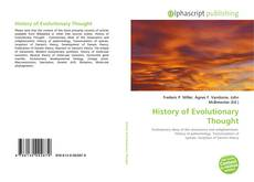 Copertina di History of Evolutionary Thought
