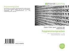 Bookcover of Programmiersprachen