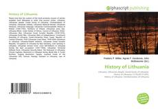Copertina di History of Lithuania