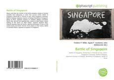 Capa do livro de Battle of Singapore