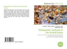 Capa do livro de Osteopathic medicine in the United States