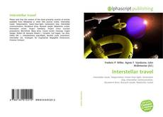 Bookcover of Interstellar travel