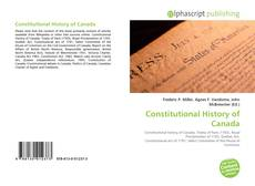 Couverture de Constitutional History of Canada