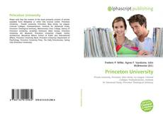 Bookcover of Princeton University