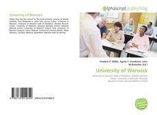 Couverture de University of Warwick
