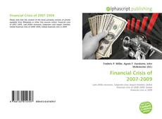 Bookcover of Financial Crisis of 2007-2009